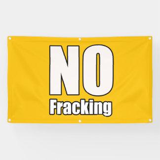 Aucune bannière 3' de Fracking x 5' pi