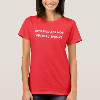 Aucune chemise neutre de bibliothèques t-shirt