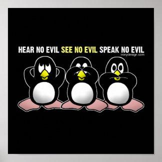 Aucune conception mauvaise de pingouins poster