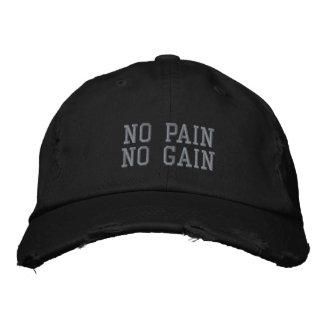 Aucune douleur aucun casquette affligé par gain