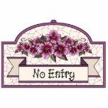 """""""Aucune entrée"""" - signe décoratif - 11 Photo En Relief"""