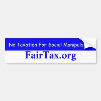 Aucune imposition pour la manipulation sociale autocollant pour voiture