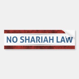 Aucune loi de Shariah Autocollant Pour Voiture