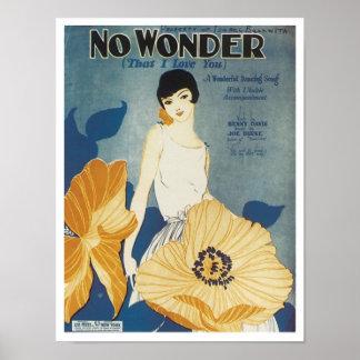 Aucune merveille qui je t'aime couverture vintage  posters