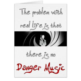 Aucune musique de danger ? cartes de vœux