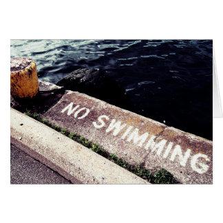 Aucune natation carte de vœux