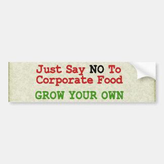 Aucune nourriture d'entreprise autocollant de voiture