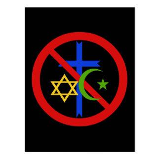 Aucune religion carte postale