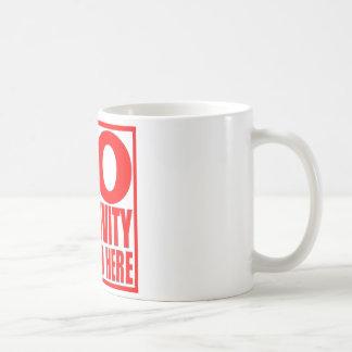 Aucune tasse de café ici permise par négativité