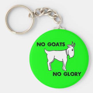 Aucunes chèvres aucune gloire porte-clé rond