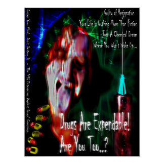 Aucunes drogues (conception 2) posters