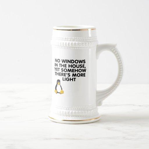 Aucunes fenêtres dans la maison… tasse à café