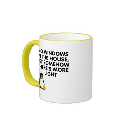 Aucunes fenêtres dans la maison… tasse