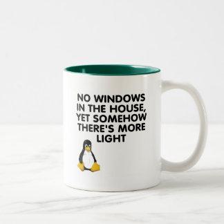 Aucunes fenêtres dans la maison… tasses