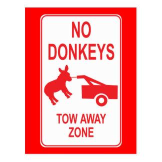 Aucuns ânes : Zone partie de remorquage Cartes Postales