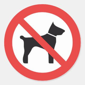 Aucuns autocollants de signe de chiens