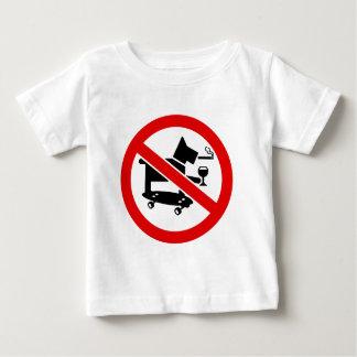 Aucuns chiens impressionnants t-shirt pour bébé