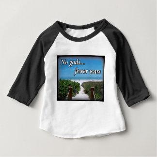 Aucuns dieux moins de guerres t-shirt pour bébé