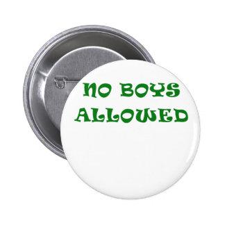Aucuns garçons permis badges