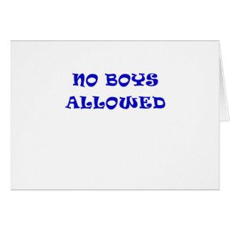 Aucuns garçons permis carte de vœux