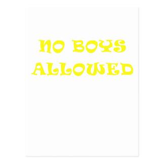 Aucuns garçons permis carte postale