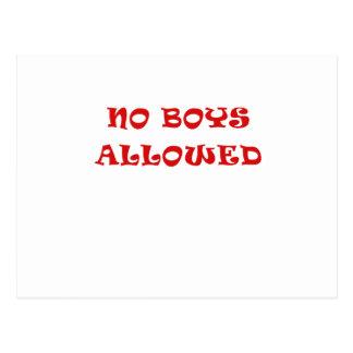Aucuns garçons permis cartes postales