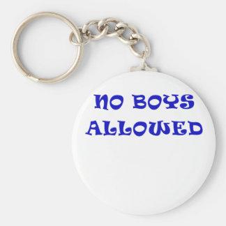 Aucuns garçons permis porte-clé