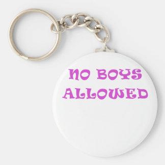 Aucuns garçons permis porte-clef