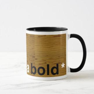 audacieux helvetica mugs