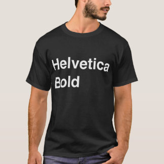 Audacieux helvetica t-shirt