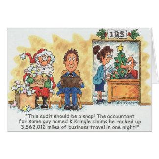 Audit de Père Noël de carte de Noël de comptable