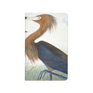 Audubon : Héron rougeâtre ou héron pourpre Carnet De Poche