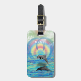 Augmentation de dauphin étiquette à bagage