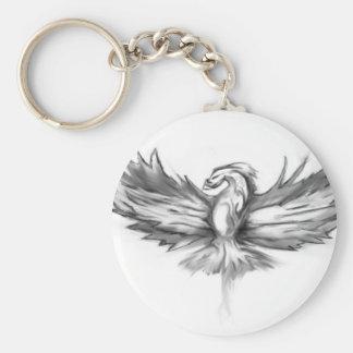 Augmentation grise de Phoenix Porte-clé Rond