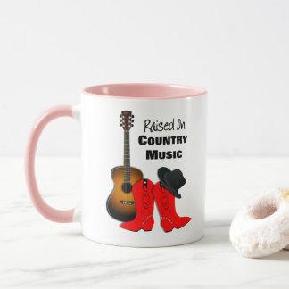 Augmenté sur la cow-girl de cool de musique tasses