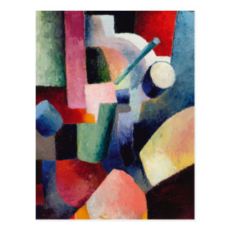 August Macke - composition colorée des formes Carte Postale