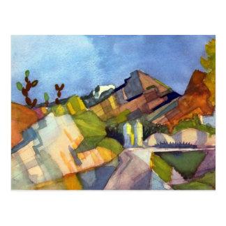 August Macke - paysage rocheux Carte Postale