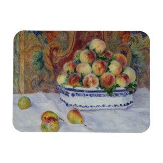Auguste Renoir - la vie toujours avec des pêches Magnets En Rectangle