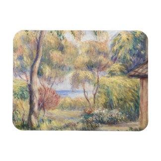 Auguste Renoir - Paysage un Cagnes Magnet Rectangulaire Avec Photo
