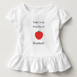 Aujourd'hui est mon premier jour d'école t-shirt pour les tous petits