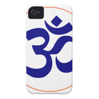 Aum ou symbole de l'OM (bleu avec l'anneau de Coque Case-Mate iPhone 4