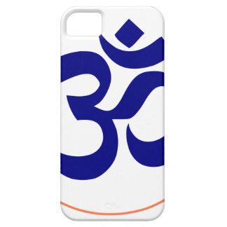 Aum ou symbole de l'OM (bleu avec l'anneau de Coque iPhone 5