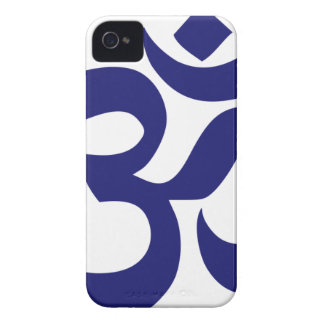 Aum Symbo (couleur bleue profonde, minimaliste) Coques iPhone 4 Case-Mate