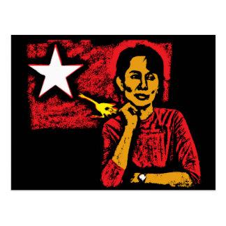 Aung San Suu Kyi Carte Postale