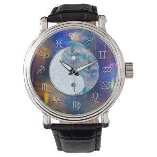 Aura cosmique Yin Yang d'astrologie Montres Bracelet
