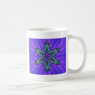 Aura verte turquoise fraîche de lavande d'étoile mug
