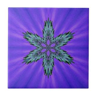 Aura verte turquoise fraîche de lavande d'étoile petit carreau carré