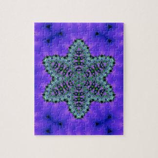 Aura verte turquoise fraîche de Lotus d'étoile Puzzle
