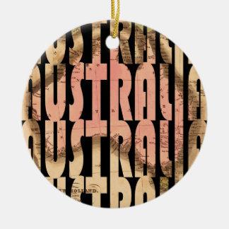 australia1740 ornement rond en céramique
