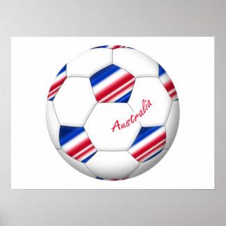 "Australian Soccer ball. Ballon de l'«AUSTRALIE "" Posters"